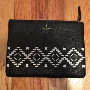 NWT Kate Spade Gia Black Leather Clutch Bag